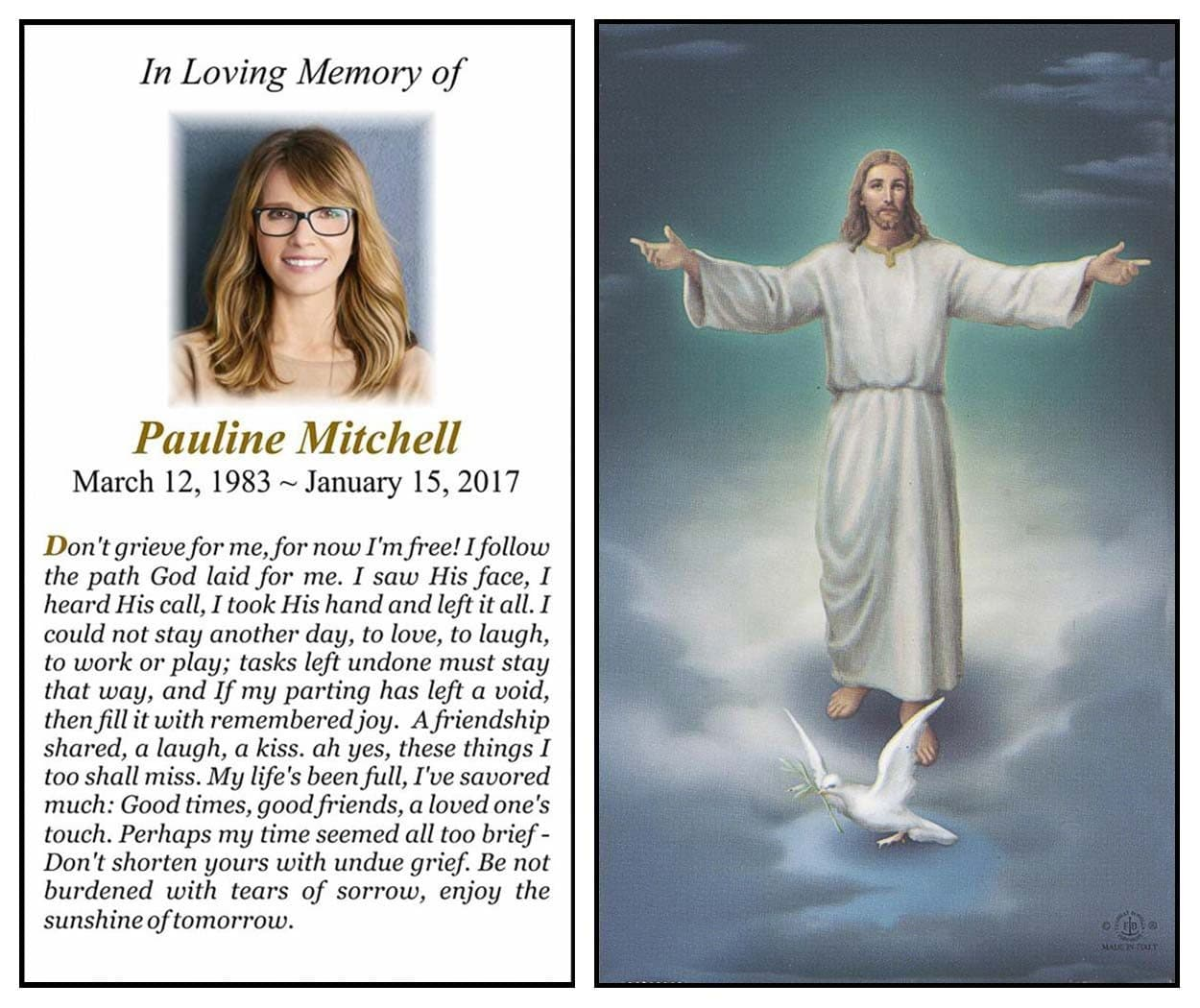 Photo Prayer Card Layout A
